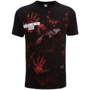Spiral Men's Walking Dead Rick All Infected Ripped T-Shirt - Black