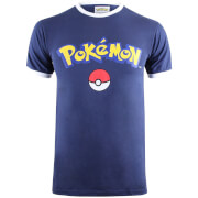 Pokemon Men's Logo T-Shirt - Navy/White