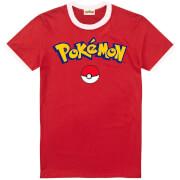 Pokemon Men's Logo T-Shirt - Red/White