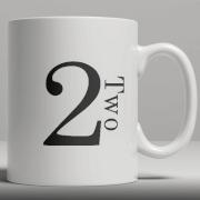 Alphabet Ceramic Mug - Number 2