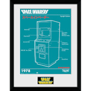 Space Invaders Cabinet Framed Photographic - 16