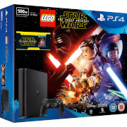 PlayStation 4 Slim 500GB With LEGO Star Wars: The Force Awakens and Star Wars: The Force Awakens Blu-ray