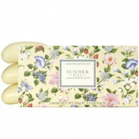 Jabones de baño perfumados Summer Hill Crabtree & Evelyn (3 x 100g)