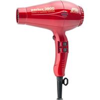 Parlux 3800 Sèche-Cheveux Ceramique et Ionique 2100W - Rouge