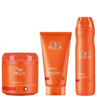 Wella Professionals Enrich Volumising Trio for Fine to Normal Hair- Shampoo, Conditioner & Treatment