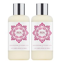 REN Moroccan Rose Otto Body Lotion Duo (Worth £52.00) (400ml)