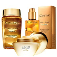 Kérastase Elixir Ultime Huile Lavante Bain, Beautifying Masque and Oil Trio Bundle