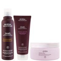 Aveda Invati Shampoo and Conditioner 200ml with Stress Fix Body Cream