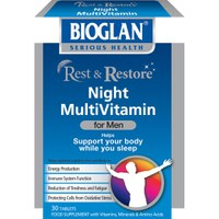 Bioglan Rest and Restore Night Multi Vitamins for Men (30 Capsules)