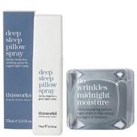 this works Deep Sleep Pillow Spray (75ml) & No Wrinkles Midnight Moisture (48ml)