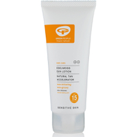 Lotion solaire avec soin bronzant FPS 15 Green People - format voyage (100 ml)