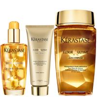 Kerastase Trio Elixir Ultime shampoing, soin Fondant, Huile pour cheveux