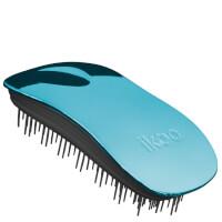 ikoo Home Detangling Hair Brush - Black/Pacific Metallic