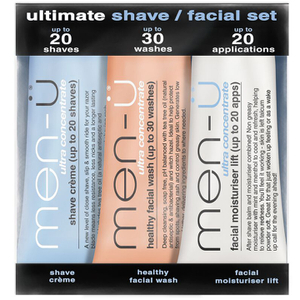 men-ü Ultimate Shave Facial Set - 15ml (3 Products)
