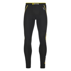 Skins Men's A200 Thermal Long Compression Tights - Black/Yellow