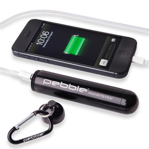 Veho Pebble Smartstick+ Emergency Portable Battery Back Up Power, 2800mah - Black