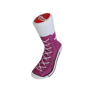 Silly Socks Adult Sneaker - Purple - 3-7