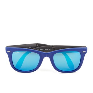 Ray-Ban Folding Wayfarer Sunglasses - Matte Blue - 50mm
