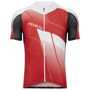 Primal Infrared QX5 Short Sleeve Jersey - Red/White/Black