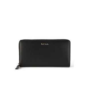Paul Smith Accessories Large Zip Around Purse - Black