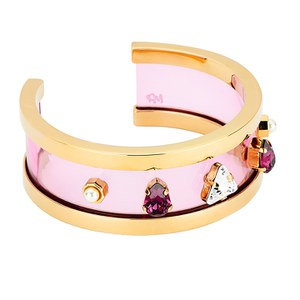 Maria Francesca Pepe Women's City Skyline Deco Plexi Cuff - Gold