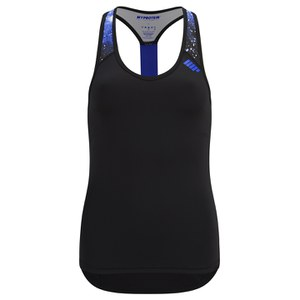 Myprotein Damen Racer Back Scoop Top mit Support - Blau Graffiti