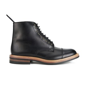 Tricker's Men's Toe Cap Dainite Leather Lace Up Boots - Black