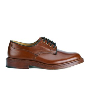 Tricker's Men's Woodstock Leather Lea Sole Derby Shoes - Marron