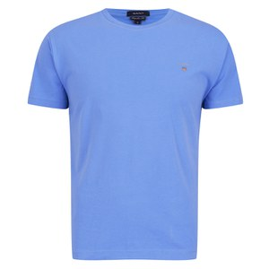 GANT Men's Solid Crew Neck T-Shirt - Evening Blue