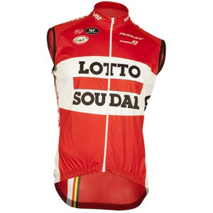 Lotto Soudal Replica Kaos Gilet - Red