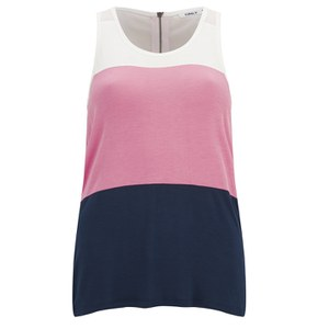 ONLY Women's Lilla Striped Top - Barely Pink