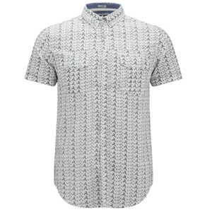 Soul Star Men's Ms Marcy Printed Shirt - White