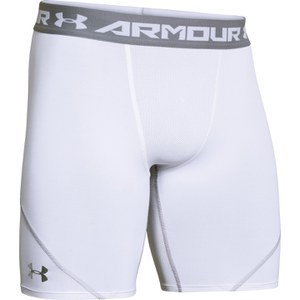 Under Armour Men's Heat Gear Armourstretch Compression Training Shorts - White/Graphite