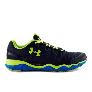 Under Armour Men's Micro G Optimum Running Shoes - Midnight Navy/Blue Jet/High-Vis Yellow