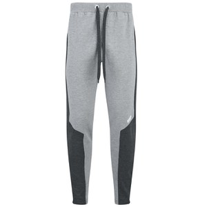 Spodnie z zamkiem Myprotein Men's Panelled Slimfit Sweatpants with Zip - kolor kredowy