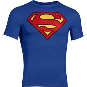 Under Armour Men's Superman Compression Short Sleeved T-Shirt - Blue/Red/Yell