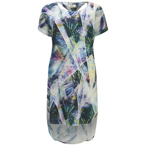 nümph Womens Printed Tunic Dress - Waterfall