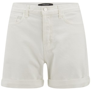 J Brand Women's Kennedy Rolled Boyfriend Shorts - White