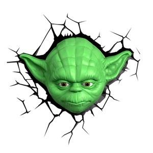 Star Wars Yoda 3D Wall Light