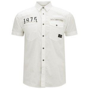 Jack & Jones Men's Short Sleeved Bade Shirt - White