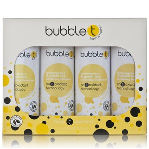 Bubble T Bath and Body Body T-ssentials in Lemongrass and Green Tea (4x100ml)