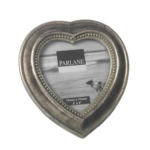 Parlane Heart Frame - Silver (H65xD65mm)