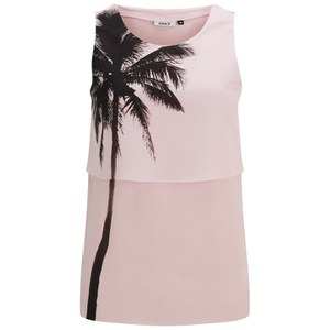 ONLY Women's Apple Sleeveless Top - Barely Pink