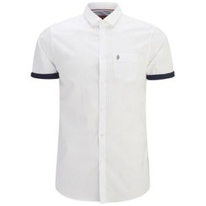Luke 1977 Men's Tommy Stibbs Short Sleeve Stripe Detail Shirt - White