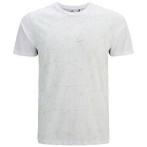 Luke 1977 Men's Geometric Splion Printed Crew Neck T-Shirt - White