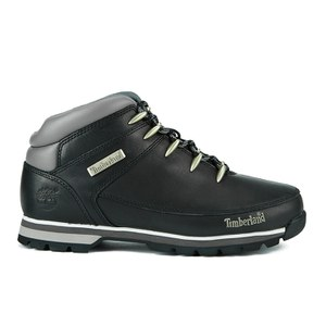 Timberland Men's Euro Sprint Hiker Boots - Black Smooth