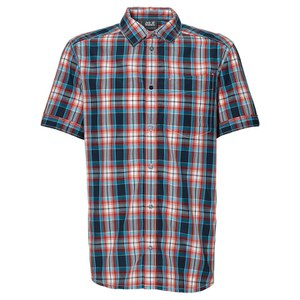 Jack Wolfskin Men's Fairford Checked Shirt - Bright Pumpkin