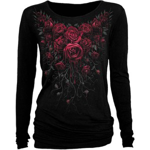 Spiral Women's BLOOD ROSE Baggy Top - Black