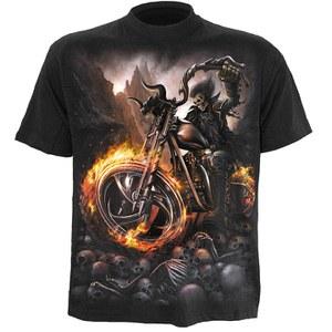 Spiral Men's WHEELS OF FIRE T-Shirt - Black