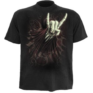 Spiral Men's ROCK SALUTE T-Shirt - Black